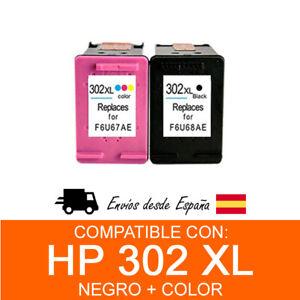 Cartuchos-de-tinta-compatible-con-HP-302XL-negro-color-pack
