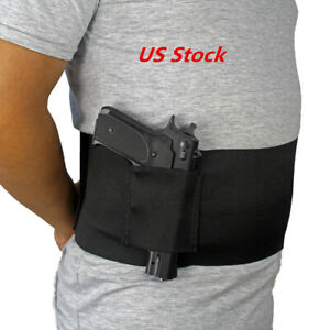 Right Handed Waist Band Gun Holster for Concealed Carry Holds Any Size Pistol