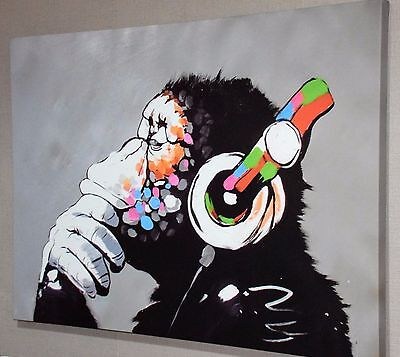 DJ Monkey Banksy Wall Art