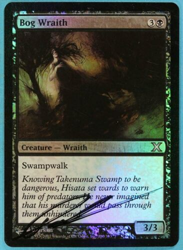 Bog Wraith FOIL 10th Edition NM Uncommon Artist Signed CARD s4709 ABUGames