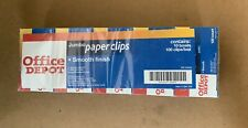 Office Depot Jumbo Paper Clips Smooth Finish 10 Boxes 100 Clipsbox