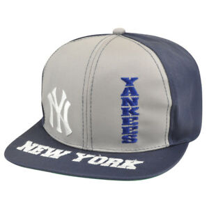 MLB New York Yankees Snapback Flat Bill Old School Vintage Hat Cap ... a016f1bf5d41