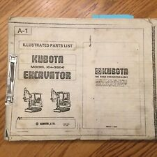 Kubota Kh 35h Mini Excavator Parts Manual Book Catalog List Illustrated Guide