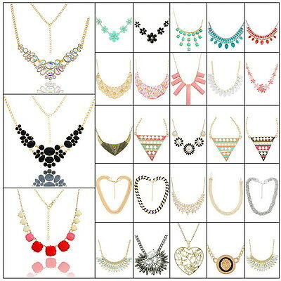Hot Women Fashion Jewelry Choker Chunky Statement Bib Pendant Chain Necklace New
