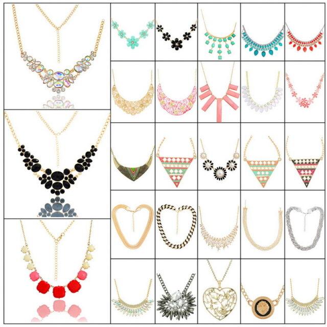 Hot Women Fashion Jewelry Choker Chunky Statement Bib Pendant Chain Necklace New