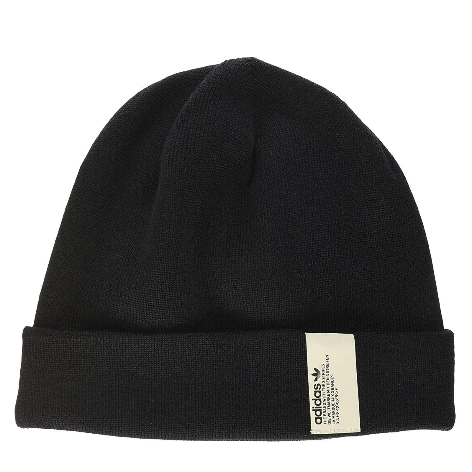 Adidas Originals NMD Beanie Mens Fine Knit Winter Hat DH3224 Black