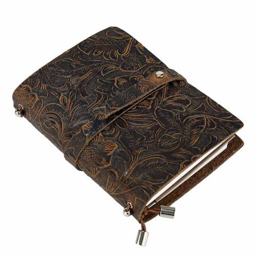 Leder Notizbuch A6 UBaymax Vintage Reise Tagebuch Notizbuch Nachfüllbares Han...