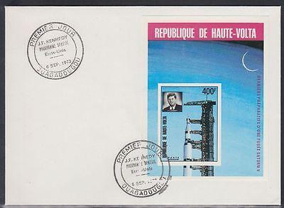 Afrika Obervolta Haute-volta 1973 Fdc Bl.16 B Weltraum Space Espace Kennedy