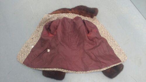 Wool 60's Women's 10 Coat Faux Trim Sz Fur Jacket Vintage qH6SE