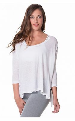 Hardtail Forever Raglan Tee White 3/4 Sleeve Cotton Modal Blend Size XS-L