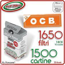 1500 Cartine OCB ORANGE CORTE + 1650 Filtri POP FILTERS SLIM 6mm RUVIDI no rizla