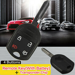 New-Uncut-Head-Ignition-Key-Entry-Remote-Combo-Fob-Transponder-Chip-63-For-Ford