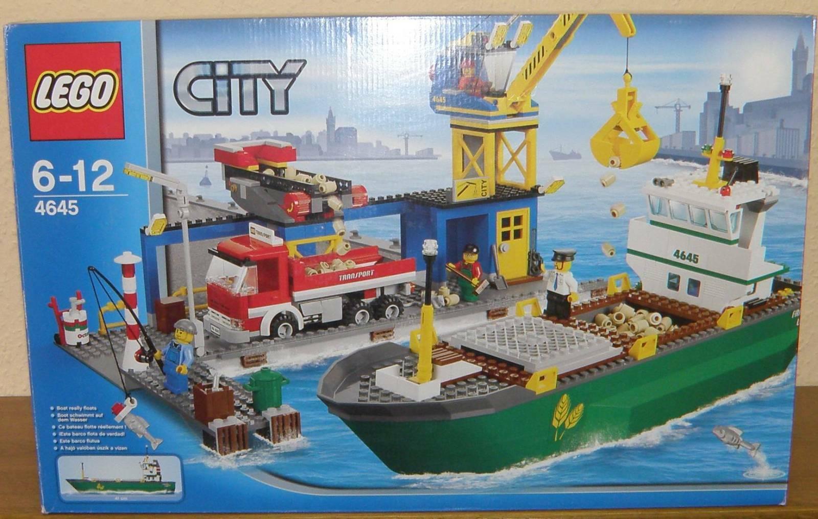 LEGO città 4645 gree porto gree Harbour  con nave da autoico 100% completamente BA OVP  edizione limitata a caldo