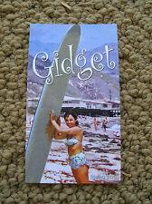 gidget business card surfboard surfing surf longboard surfer girl california