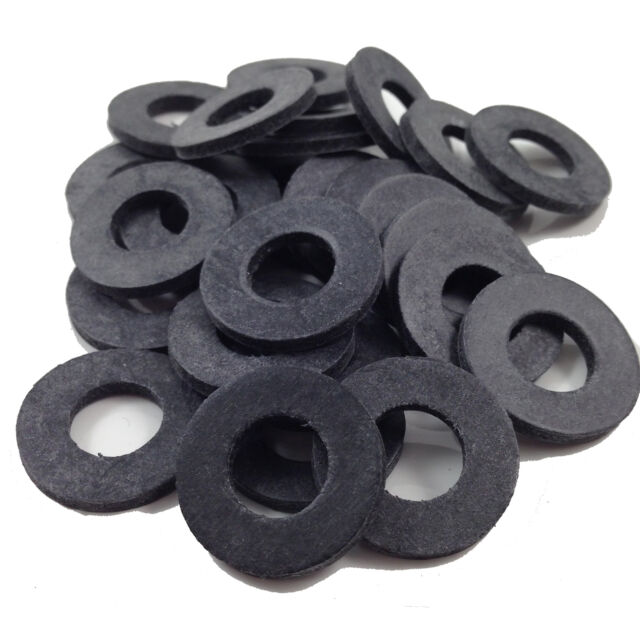M10 (10mm) THICK BLACK RUBBER  WASHERS SUIT M10 SCREWS & BOLTS, WASHER TAP