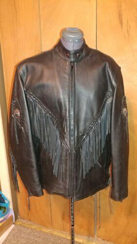 Womens fringed leather Motorcycle Jacket