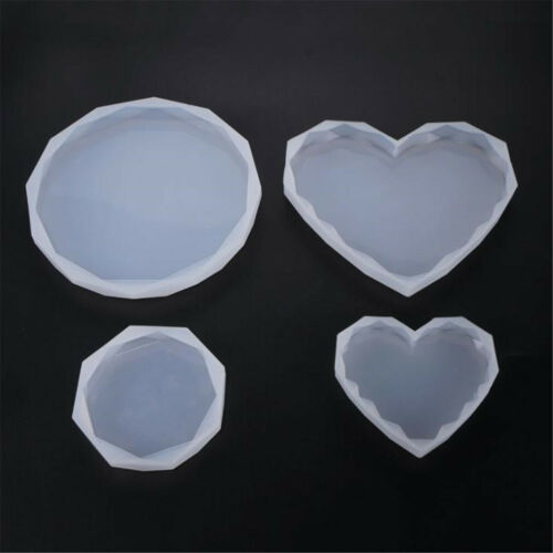 Silicone Mold Heart Octagon Round Shape Crystal DIY Making Epoxy Resin Molds