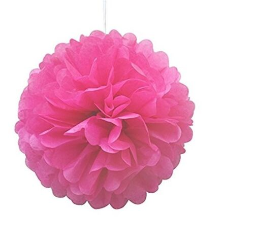 Pack of 5 Rose Tissue Paper Pompoms  for Wedding /& Party Decorations-12 inches