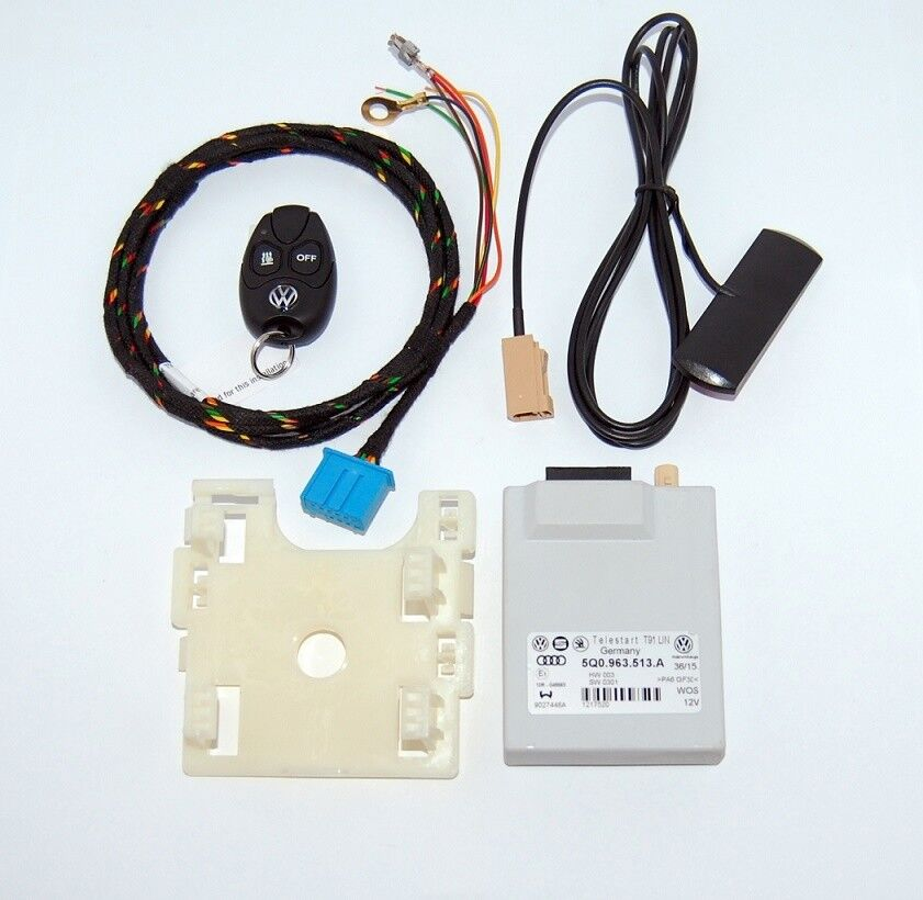 7N0 963 513 B kit with VW Remote NEW OEM Webasto Telestart T91R 7N0963513B