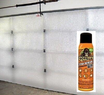 1 Car Garage Door Insulation Kit R 7.5 Fits 9x7 /& 9x8 Includes Gorilla Glue