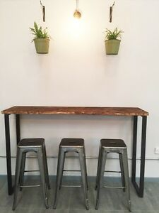Image Is Loading Breakfast Bar Table Bistro Table Poseur Table Reclaimed