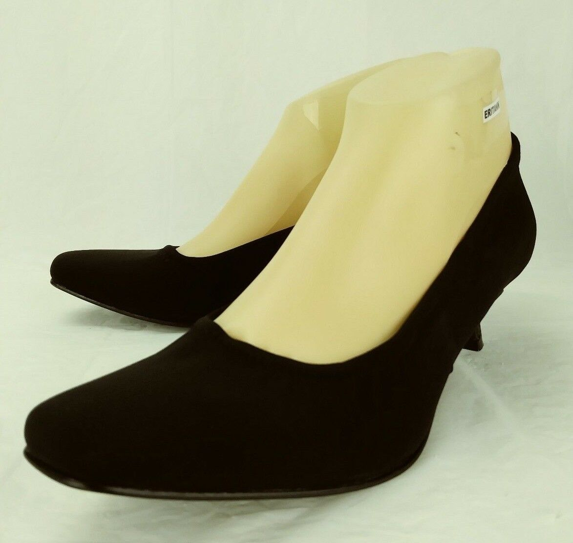 Donald J Pliner Wos Heels SEANA US 9 N Black fabric Slip-On Work shoes Pumps 20