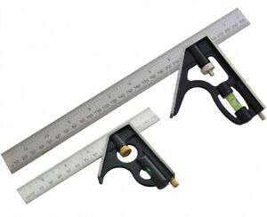 NEW 6/'/' COMBINATION SQUARE STAINLESS STEEL SPIRIT LEVEL MEASURING TOOL