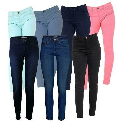 SALE WOMEN/'S HIGH WAIST JEANS Ladies Stretch Denim Skinny Slim Pants SIZE 6-16
