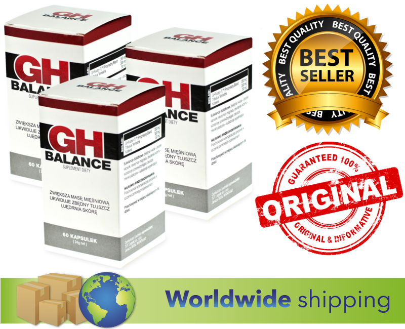 3x GH Balance Bodybuilding Natural Natural Natural Muscle Mass Growth Diet Fat Burner 60 Caps 87e140
