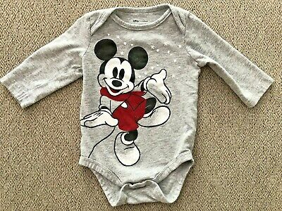 Size 3 months Disney Red Mickey Baby Boy Bodysuit by Jumping Beans