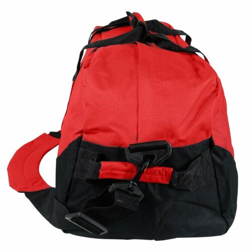 Duffle Bag Two-Toned Sports Gym Travel Bag in Navy Blue//Black and Red//Black 21/""