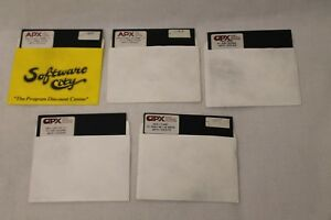 Lot-of-5-APX-Weekly-Planner-Family-Cash-Flow-amp-Budget-Atari-5-25-034-Floppy-Disk