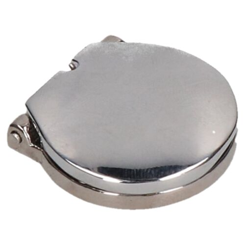 Polished Chrome Spring Loaded Key Escutcheon Cover 27mm for 12mm Hole