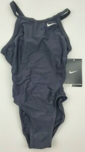 Nike-Womens-Girls-Core-Solid-Lingerie-Swimsuit-Black-TESS049-Free-Shipping