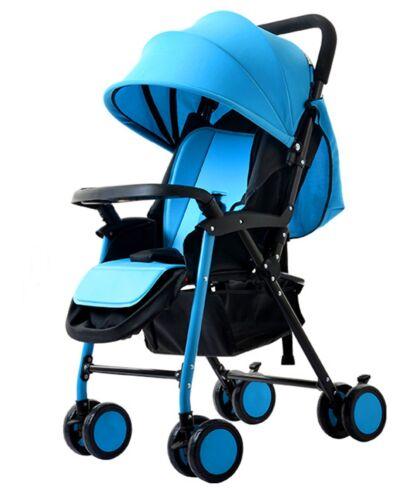 blau City Buggy Hello Panda Liegefunktion Waschbarer Sitzbezug Twist Funktion