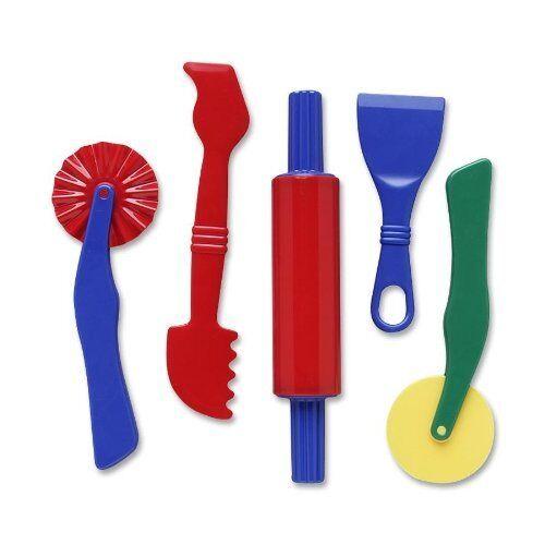 5pc Dough Durable Plastic Tools Set Assortment Mold Clay Play Doh Cutting Craft