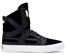 Supra Skytop II HF Black Leather/Suede Skate High Top Vulcanized Sole Size 10.5