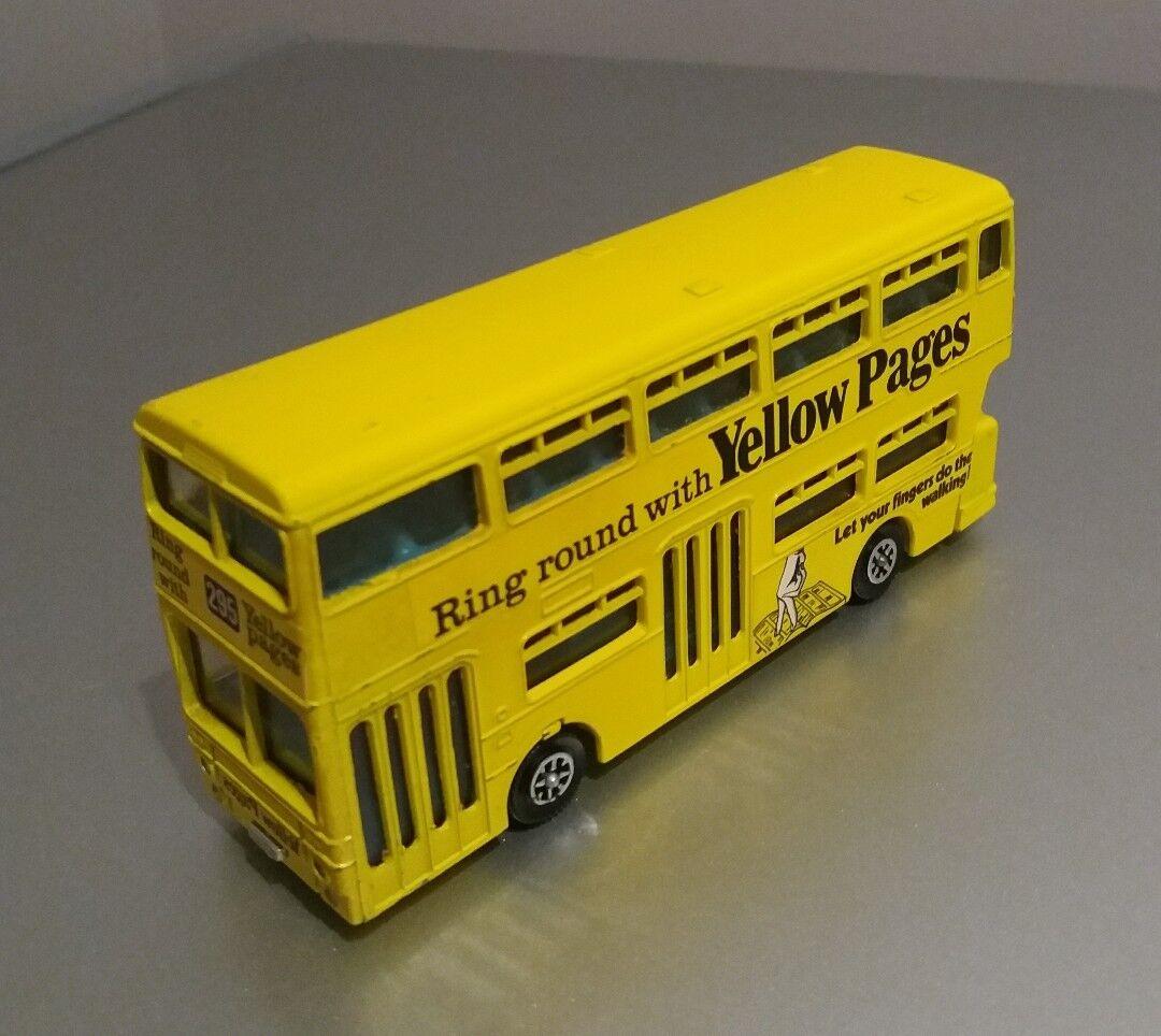 Dinky No  295  Atlantean City Bus (Yellow Pages)  - Light Yellow (Original 1975)
