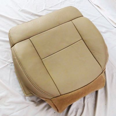 Driver side Bottom Leather Seat cover TAN 97-99 Ford F150 LARIAT 4.2L V8  GAS