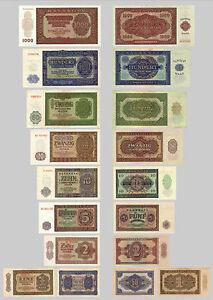 2x-je-0-5-1000-Mark-Deutsche-Mark-1948-alte-DDR-Waehrung-18-Banknoten