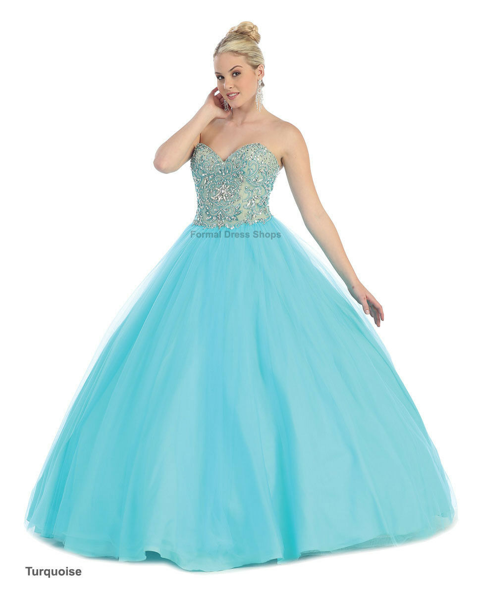 SALE ! QUINCEANERA PROM SWEET 16 BALL GOWN PAGEANT MASQUERADE ...