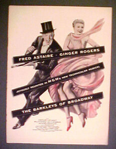 1949 Fred Astaire Ginger Rogers The Barkleys Of Broadway Mgm Movie Musical Ad Ebay
