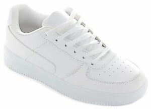 WOMENS LADIES WHITE TRAINERS COMFORT URBAN SHOES SIZE