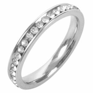 Donna-Acciaio-inossidabile-Anello-argento-C1T9