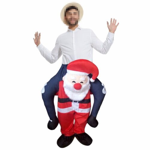 1 of 1 - Santa Claus Novelty Carry Me Fancy Dress Up Costume Ride On Suits Christmas Gift