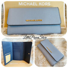 1543fa2d9124 item 6 NWT MICHAEL KORS JET SET TRAVEL LEATHER LARGE TRIFOLD WALLET IN PALE  BLUE NAVY -NWT MICHAEL KORS JET SET TRAVEL LEATHER LARGE TRIFOLD WALLET IN  PALE ...