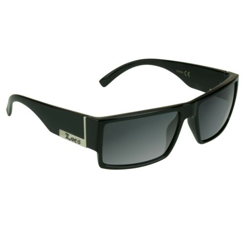 Real LOCS Sunglasses Biker GANGSTER Low Rider Shades Super Dark Black Glasses