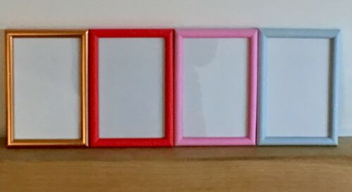 "Matt Pink Red or Duck Egg Blue 6/"" x 4/"" NEW Narrow Picture Photo Frame Copper"