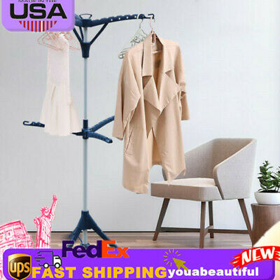 Drying Rack Expandable Folding Hang Clothes Drying Rack Laundry Stand  2-layer