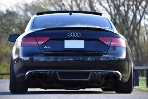 Audi-A5-Coupe-Cabrio-2007-2011-Pare-Chocs-Arriere-Spoiler-Diffuseur-pas-pour-S-Line